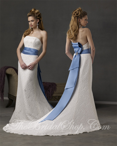 Ivory Regal Blue Wedding Gowns