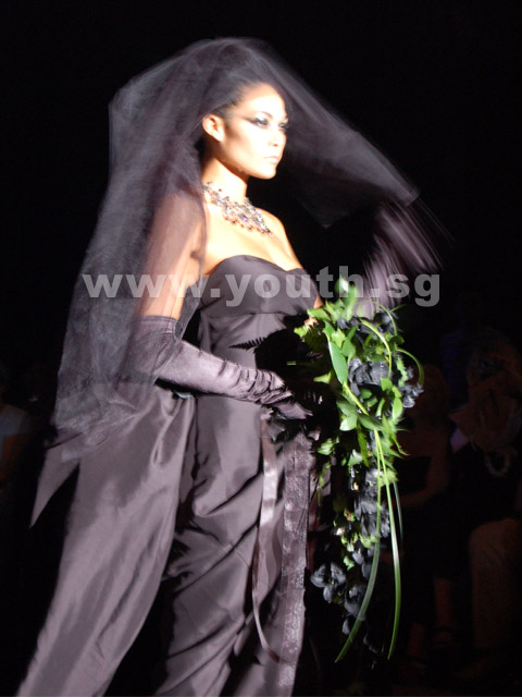 Black Gown Wedding