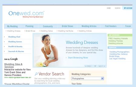 onewed.com top 9 wedding sites