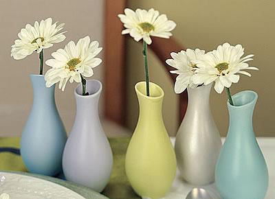 pastel favor vases
