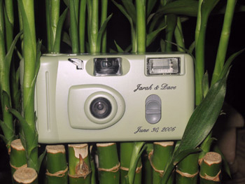 Personalised Wedding Cameras