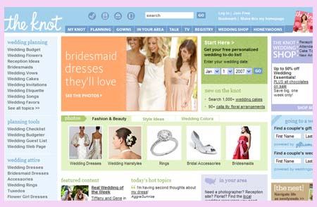 TheKnot.com top 10 wedding sites