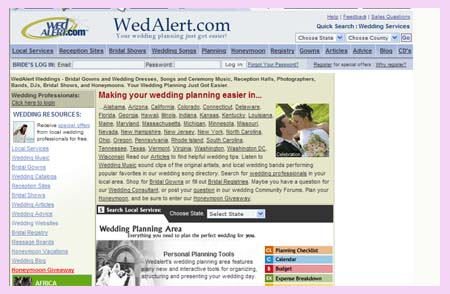 WedAlert.com top 10 wedding sites