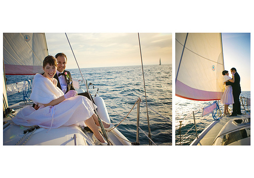 wedding sail boat