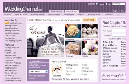 WeddingChannel.com top 10 wedding sites